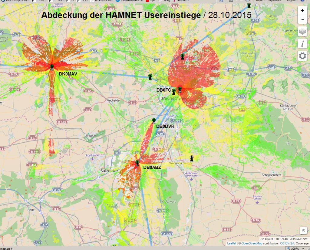 ◾DK0MAV mit 4 Sektor-Antennen für den nördlichen Bereich und einem Beam nach Süden
