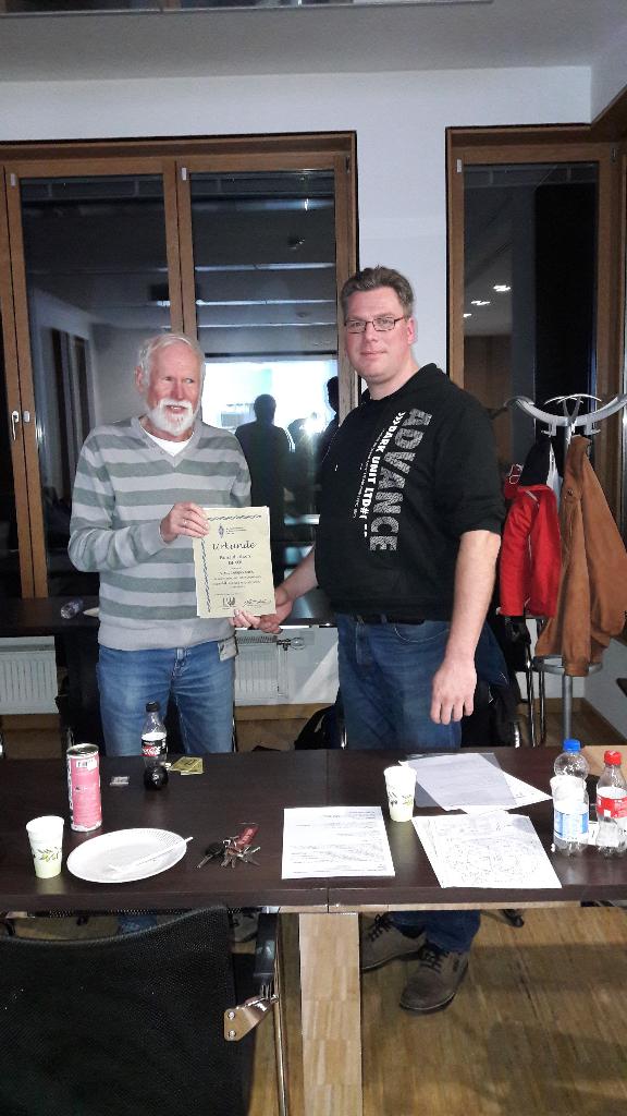 Ehrung von Ronald Lösch, DF4OL, zur 40 jährigen Mitgliedschaft im VFDB.