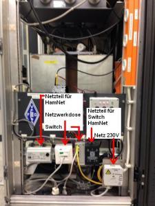 HamNet-Versorgung / Netzteil / Netzwerkdose / Switch / Netzteil